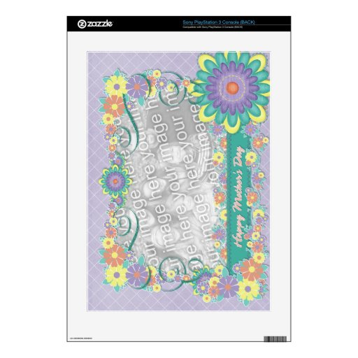 Mothers Day - ADD YOUR PHOTO - Spring Flowers PS3 Console Decals