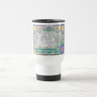 Mothers Day ADD YOUR PHOTO Spring Flowers Travel Mug
