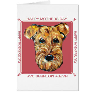 MOTHERS DAY AIREDALE CARD