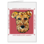 MOTHERS DAY AIREDALE GREETING CARD