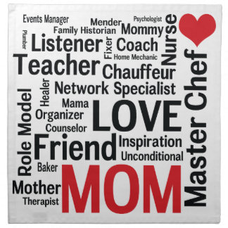 Mother's Day Amazing Multi-talented Super Mom Cloth Napkin