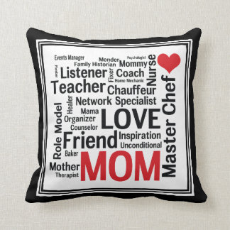 Mother's Day Amazing Multi-talented Super Mom Throw Pillows