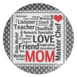 Mother's Day Amazing Multi-talented Super Mom Dinner Plate