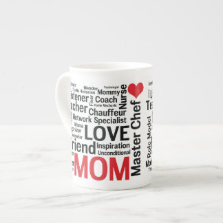 Mother's Day Amazing Multi-talented Super Mom Porcelain Mugs