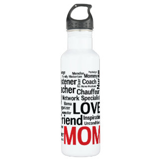 Mother's Day Amazing Multi-talented Super Mom Water Bottle