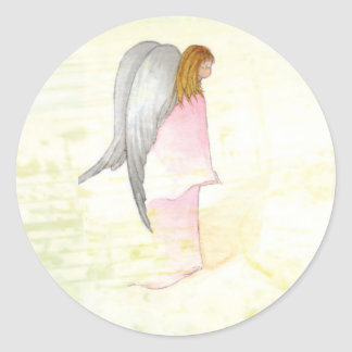 Mother's Day Angel Religious Classic Round Sticker