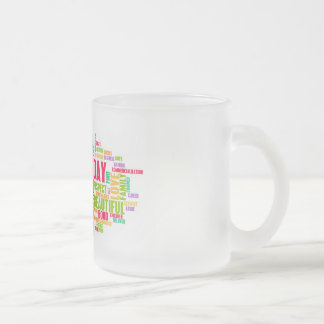 Mother's Day As a Special Day with Words Frosted Glass Coffee Mug