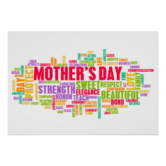 Mother's Day As a Special Day with Words Poster