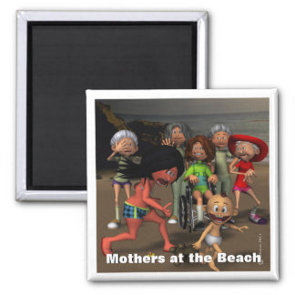 Mother's Day at the Beach 2 Inch Square Magnet