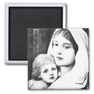Mothers Day B&W Vintage Madonna with Baby  Magnet