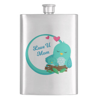 mother's day badges with cute animals 002 flask