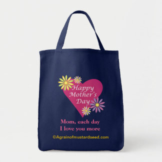 Mother's Day Grocery Tote Bag