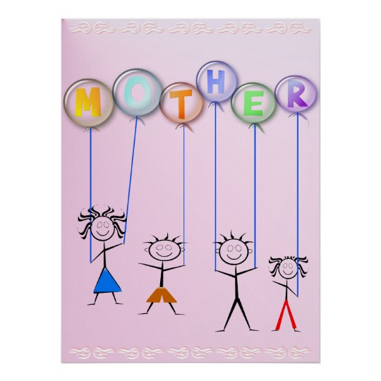 Mother's Day Balloons Print