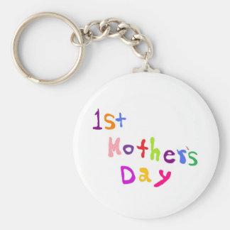 Mother's Day Basic Round Button Keychain