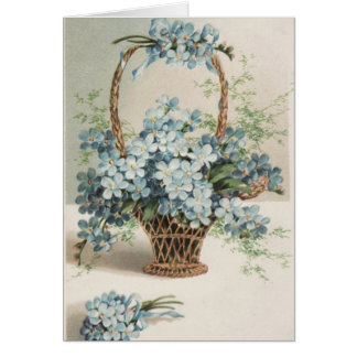 Mother's Day Basket of Forget-Me-Nots Card