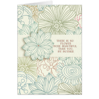 Mother's Day Beautiful Flowers Pretty Mother Greeting Card