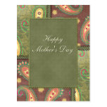 Mother's Day - beautiful Paisley design Post Cards