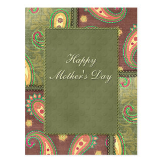 Mother's Day - beautiful Paisley design Postcard