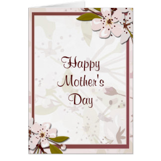 Mothers Day Beautiful Spring Blossoms Big Card
