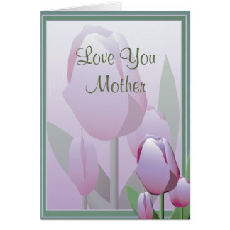 Mothers Day Beautiful Spring Tulip Violet Card