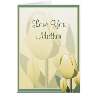 Mothers Day Beautiful Spring Tulip Yellow Card