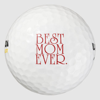 Mother's Day Best Mom Ever Golf Balls