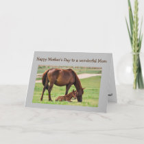 Mother's Day Best Mom Ever Horses Card