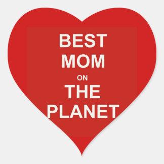 Mother's Day - Best Mom Heart Sticker