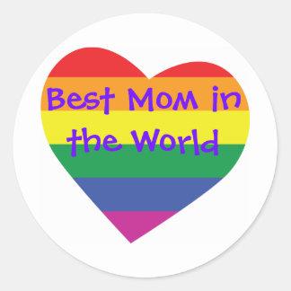 Mother's Day Best Mom in the World Round Sticker