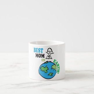 Mothers Day Best Mom on Earth Gift Espresso Cup
