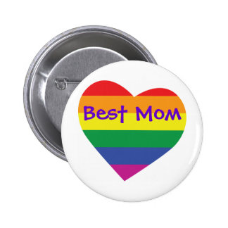 Mother's Day Best Mom Pinback Button