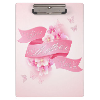 """Mother's Day """"Best Mother Ever"""" Word Art Clipboard"""
