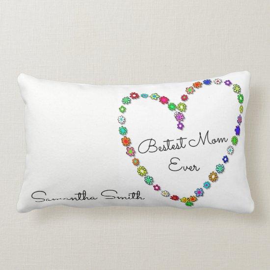 Mother's Day Bestest Mom Ever - Lumbar Pillow