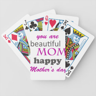 mother's day bicycle playing cards