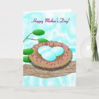 Mother's Day Bird's Nest with Eggs