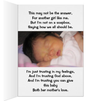 Mothers Day, Birth mother or Adoptive Mom Card