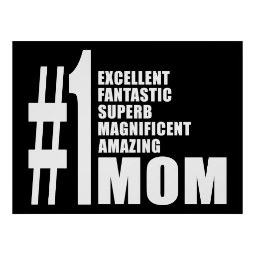 Mothers Day Birthdays Christmas Number One Mom Poster