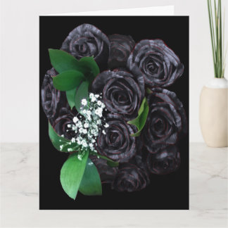 Mother's Day Black Rose Bouguet Card