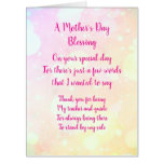 Mother's Day blessing greeting Card