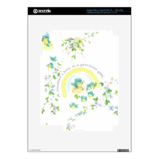 Mother's Day Blue Love Birds Decal For iPad 3