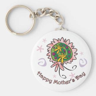 Mother's Day bouquet Basic Round Button Keychain