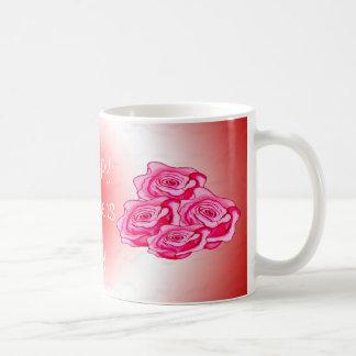 Mothers day bouquet of roses basic white mug