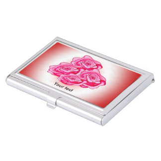 Mothers day bouquet of roses case for business cards