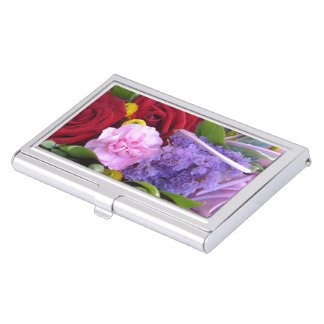 Mother's Day Bouquet Business Card Case