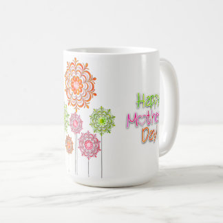 Mother's Day - Bright Fun Flowers 2 Coffee Mug