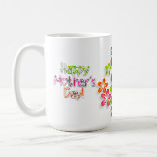 Mother's Day - Bright Fun Flowers (2) Coffee Mug