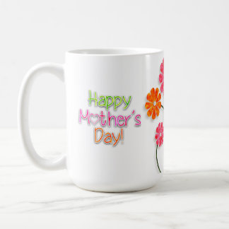 Mother's Day - Bright Fun Flowers Coffee Mug