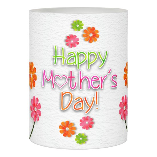 Mother's Day - Bright Fun Flowers Flameless Candle