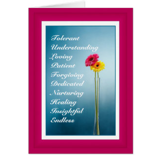 Mother's Day - Bright Pink Flower - Photography 2 Card