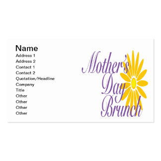 Mothers Day Brunch Double-Sided Standard Business Cards (Pack Of 100)